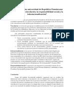 Qué es para una universidad de República Dominicana la extensión, la vinculación, la responsabilidad social y la internacionalización.docx