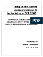 Researching on the Current Social Sciences Textbooks in the Backdrop of NCF 2005