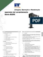 Manual de Montagem, Operação e Manutenção. Aparelho de Levantamento. Série B200