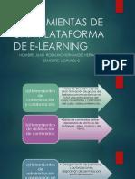 Herramientas de Una Plataforma de E-learning