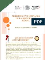 Maestría en Enseñanza de La Historia de México