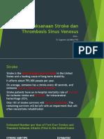 Penatalaksanaan Stroke Dan Thrombosis Sinus Venosus 2019 - Dr. Sugianto