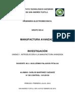 Unidad 1. Manufactura.