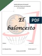 El baloncesto.