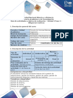 Guía de Actividades y Rubrica de Evaluación - Fase 4 - Diligenciar Matrices