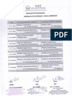 Research Methodology Class Schedule -FS-18