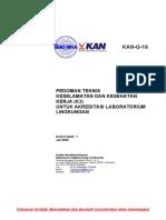 Kan-g-16 Pedoman Teknis Keselamatan Dan Kesehatan Kerja (k3) Untuk Akredita