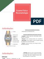 Exame Físico e Testes Semiologicos Em Reumatologia