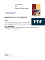 HUI, Wang. the Idea of Asia and Its Ambiguities