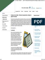 Analógica Versus Digital - Utilização de Equipamentos Analógicos e Digitais de Medição