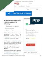 AC Generator (Alternator) - Construction and Working _ Electricaleasy.com
