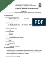 Formato No 1 Registro de Proyecto 1