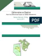 Carbonates vs Clastics