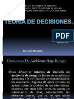 Grupo N° 1 Alternativas de Decisión, Árbol de Decisión y Función de Utilidad. DIAPOSITIVA