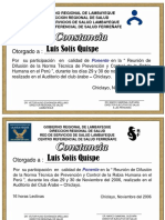 Certificado Dr. Solis