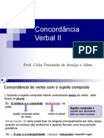 Português PPT - Concordância Verbal II