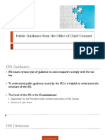 Public Guidance From the Office of Chief Counsel