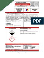 Ficha de Seguridad Del Hidróxido de Bario