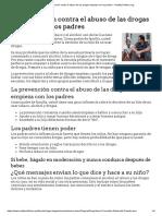 La Prevención Contra El Abuso de Las Drogas Empieza Con Los Padres - HealthyChildren.org