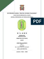 SILABO 2019 - FISIOPATOLOGIA