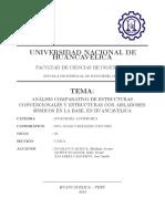 ANALISIS COMPARATIVO DE ESTRUCTURAS CONVENCIONALES Y ESTRUCTURAS CON AISLADORES SISMICOS EN LA BASE EN HUANCAVELICA.pdf