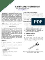 Diseño de Filtro Activo Pasa Bajas de Tercer Orden Basado en La Respuesta Butterworth