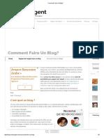 Comment Faire Un Blog
