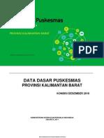 Data Dasar Puskesmas Kalbar 2016