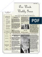 Newsletter Volume 10 Issue 15