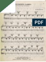 Children Games Antonio Carlos Jobim para piano. Arreglo de Eumir Deodato