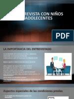 LA ENTREVISTA CON NIÑOS Y ADOLECENTES.pptx