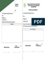 Formulir Pelaporan Dan Penyelesaian Komplain
