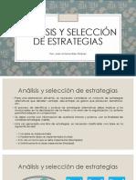 Análisis y Selección de Estrategias