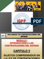 MODULO 01 - TITULO 05 SUJETOS COMPRENDIDOS EN LA LEY DE CONTRATACIONES DEL ESTADO.pptx