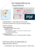 EUA - Da Independência ao Imperialismo - ppt
