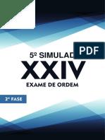 5o Simulado OAB de Bolso D. Administrativo 2a Fase XXIV Exame de Ordem