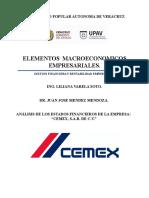 Elementos Macroeconomicos de Cemex