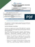FO-HSE-27 Revisión Por La Dirección SST Y Ambiente VYD V1