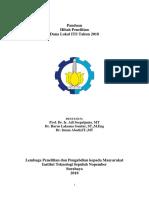 Panduan Penelitian Dana Lokal 2018
