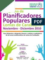 Programa de Planificadores Populares de Lomas de Carabayllo 2010 - Afiche