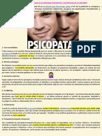 6 Señales Para Identificar a Las Personas Psicópatas y Sociópatas de Tu Entorno