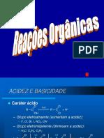 Acides e basicidade dos compostos orgânicos