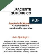 EL PACIENTE QUIRURGICO