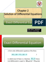 II. Exact Differential Eqauation