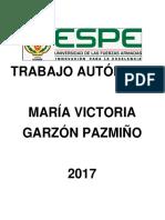 Trabajo Autónomo Garzón Pazmiño María Victoria
