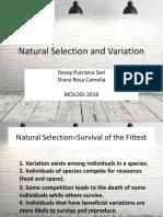 Natural Selection and Variation SEMOGA GA TERJUN