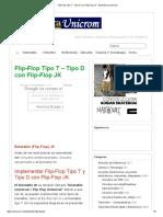 Flip-Flop Tipo T - Tipo D con Flip-Flop JK - Electrónica Unicrom.pdf