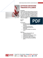AutoCAD Advanced Training Overview _R1