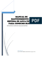 Manual de Mantenimiento de Agua Potable