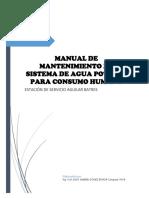 Manual de Mantenimiento de Agua Potable